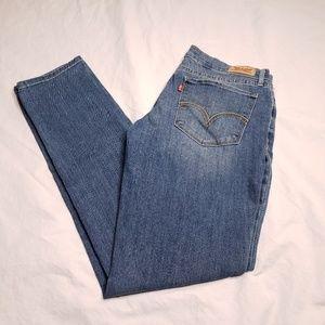 Levis Juniors Size 11 524 Skinny Jeans Medium Wash